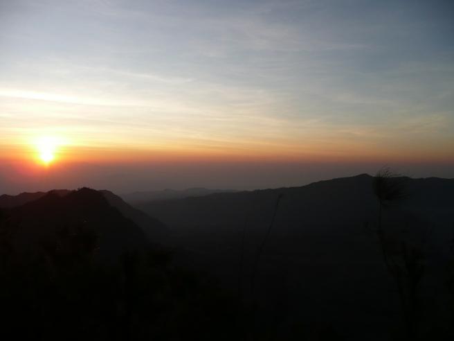 Zonsopgang boven Bromo
