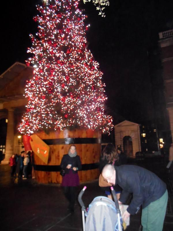Kerstboom aan Covent Garden