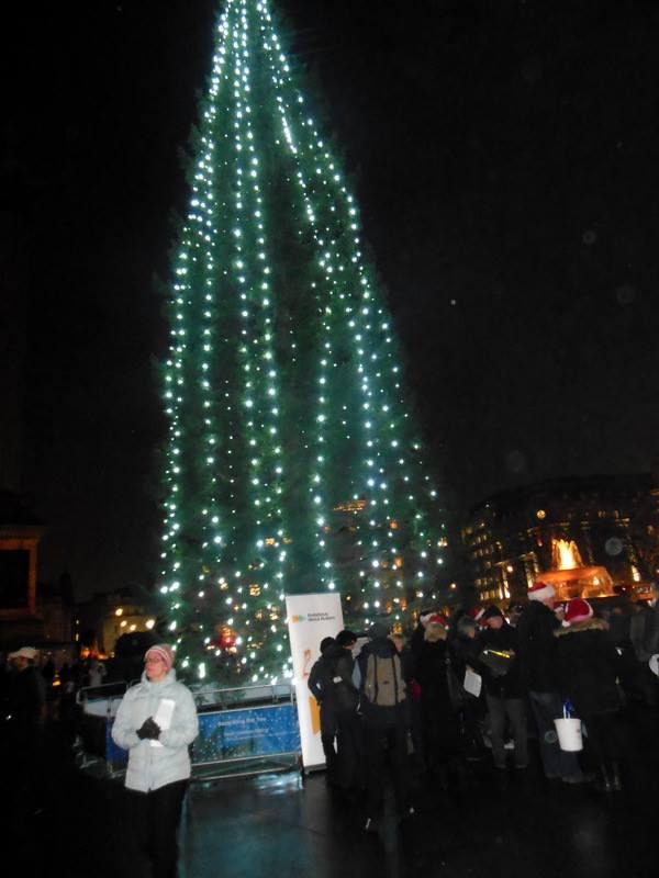 Kerstboom op Trafalgar Square