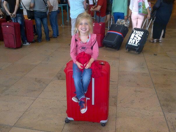 Op de koffer