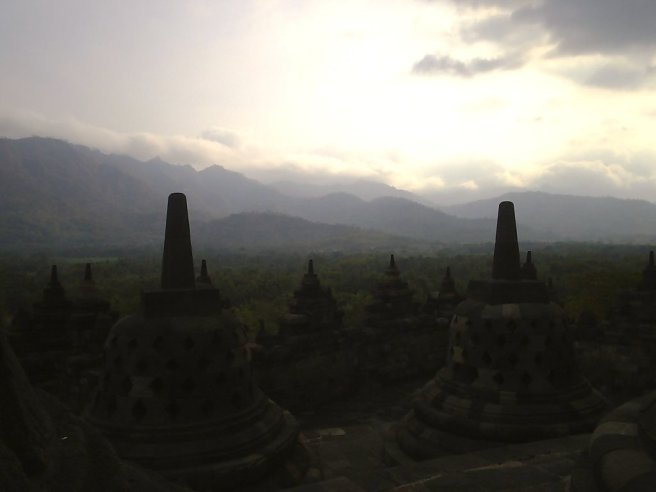Uitzicht vanaf Borobudur
